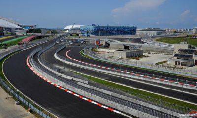Формула 1 , здание RC и трибуны, Адлер